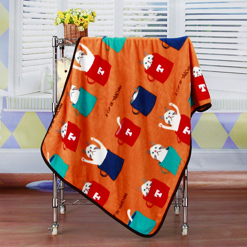 Детское одеяло из хлопка, супер мягкое детское одеяло с рисунком, мягкое, удобное, дышащее, Коралловое, бархатное, воздухопроницаемое одеяло - Цвет: O
