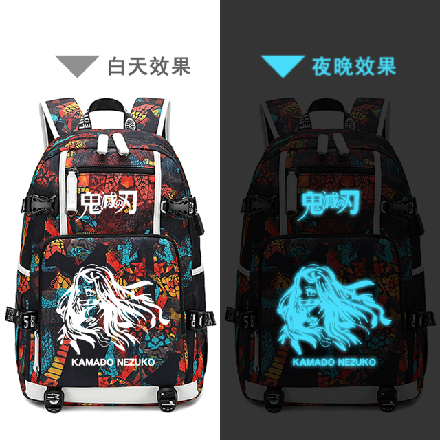 Demon Slayer: Kimetsu no Yaiba Printed Backpack Nylon