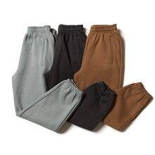 Kanye west sweatpants cores sólidas temporada 6 calças de alta qualidade mais veludo calças kardashian