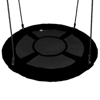 40 100cm Large Capacity Kids Outdoor Round Nest Hanging Cloth Cover Black Color Tree Swing Protective Cover Protector Bag
