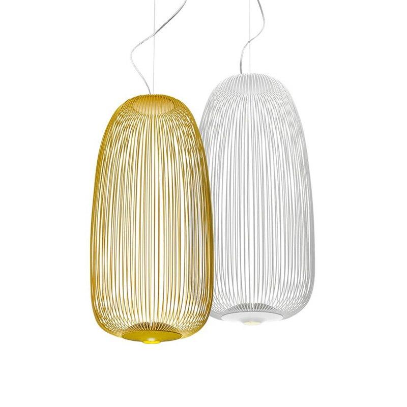 Raios 1/2 luzes Pingente Foscarini Modern LED Hanglamp LOFT Industrial Gaiola de Pássaro lustre Suspensão Luminárias Sala De Jantar Decoração - 4