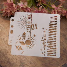 Layering Stencils Numbers Ticket Vintage Embossing-Album-Decorative-Template Wall-Painting