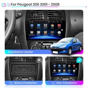 Image 2 - Junsun V1 Pro 4G + 64G CarPlay Android 9.0 DSPสำหรับPeugeot 206 2001   2008 วิทยุรถยนต์เครื่องเล่นวิดีโอมัลติมีเดียGPS RDS 2 DIN DVD