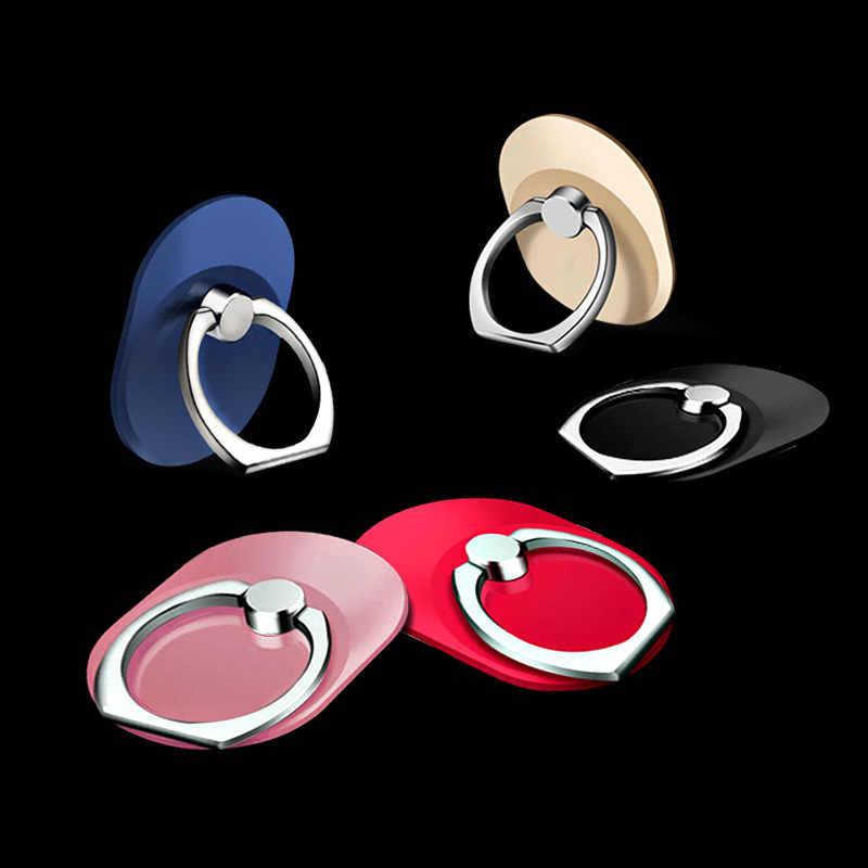 Anneau de doigt téléphone Mobile Smartphone support pour iPhone XS Huawei Samsung cellule intelligente téléphone rond porte-anneau support de voiture