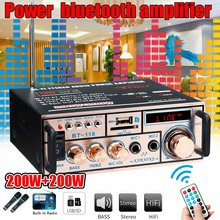 220V 400W Bluetooths Car Home Powers Amplifier Wireless Digitals Audio Amplifier Stereo Low Distortion Remote Control Amplifier(China)