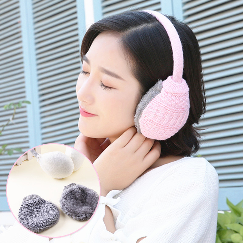 1PC New Fashion Winter Warm Knitted Earmuffs Ear Warmer Fashion Women Girls Ear Muffs Earlap Casual  Earmuffs Winter Accessories