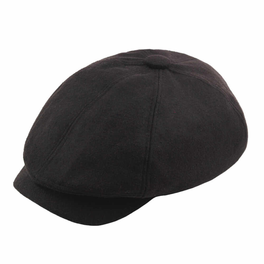 2019 News Winter Men's and Women's  warm berets Unisex Vintage Twill Cotton Baseball Cap Vintage Unadjustable Dad Berets Hat