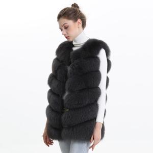 Image 4 - Autumn Winter Women Real Fox Fur Vest Female Genuine Fox Fur Coat Leather Jacket Warm Lady Gilet Natural Fox Fur Waistcoat