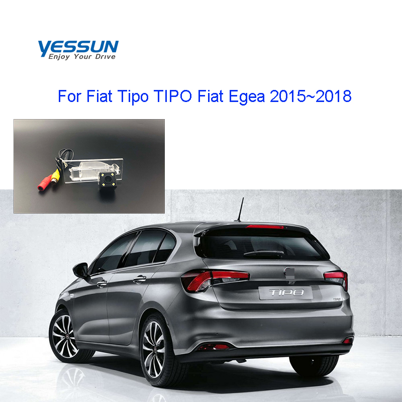 Yessun License Plate Rear View Camera 4 LED Night Vision 170 Degree HD For Fiat Tipo TIPO Fiat Egea 2015~2018