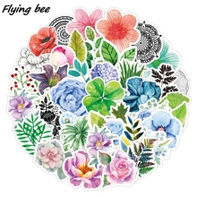 Art-Stickers Flower Rose X1116 50pcs Grass-Leaves Colorful-Plants DIY Lucky-Clover Flyingbee