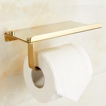 Stainless Steel Toilet Paper Holder Bathroom Phone Shelf Wall Mount Mobile Phones Towel Rack Accessories