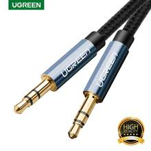 Ugreen-Cable de Audio Jack de 3,5mm, conector macho a macho para altavoces, Cable Aux para iPhone, Samsung S10, auriculares de coche, MP3/4, Cable Aux de 3,5mm