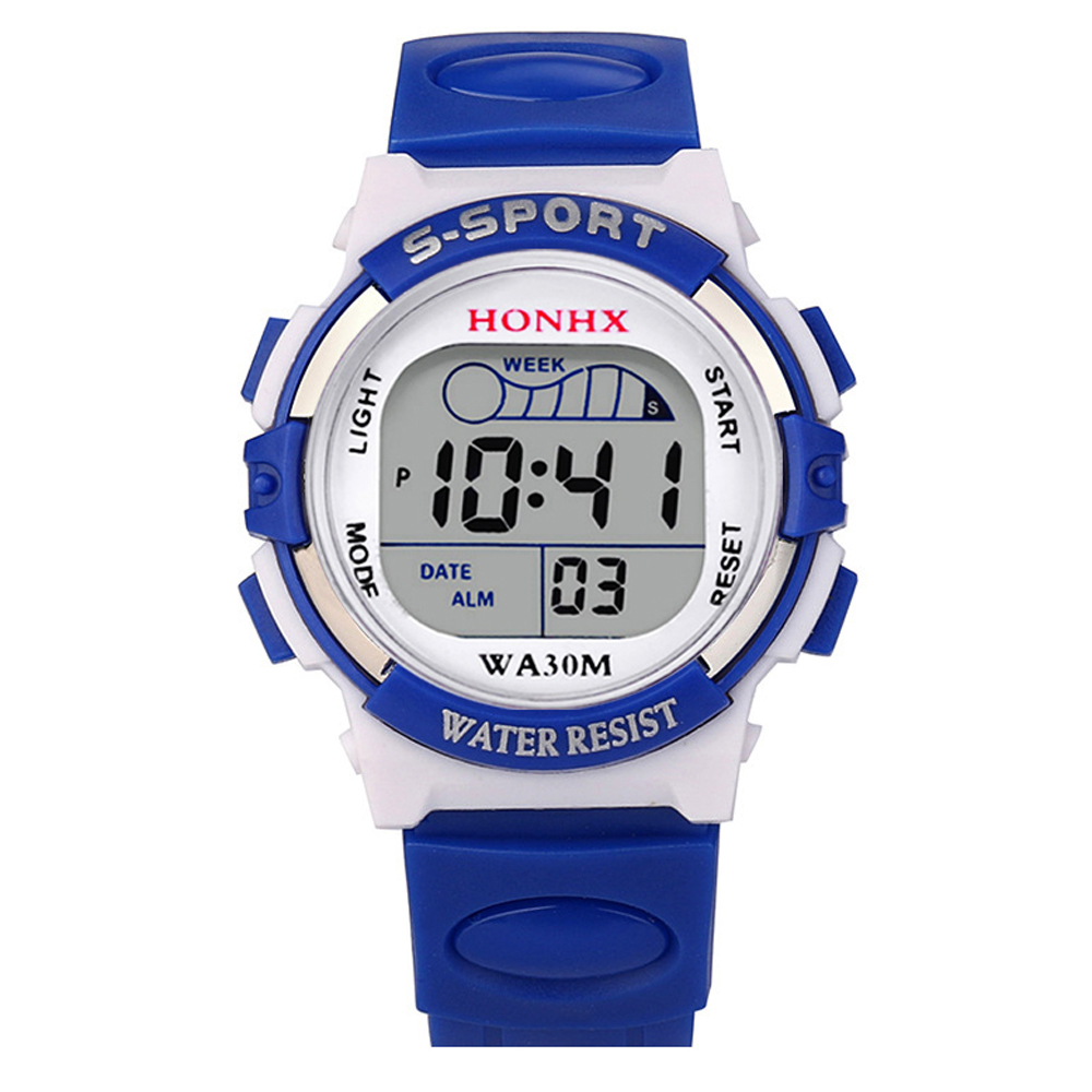 Children's watches HONHX deportivo deportes depor Sport Watch for Kids Digital Wristwatch Waterproof para niños army watch