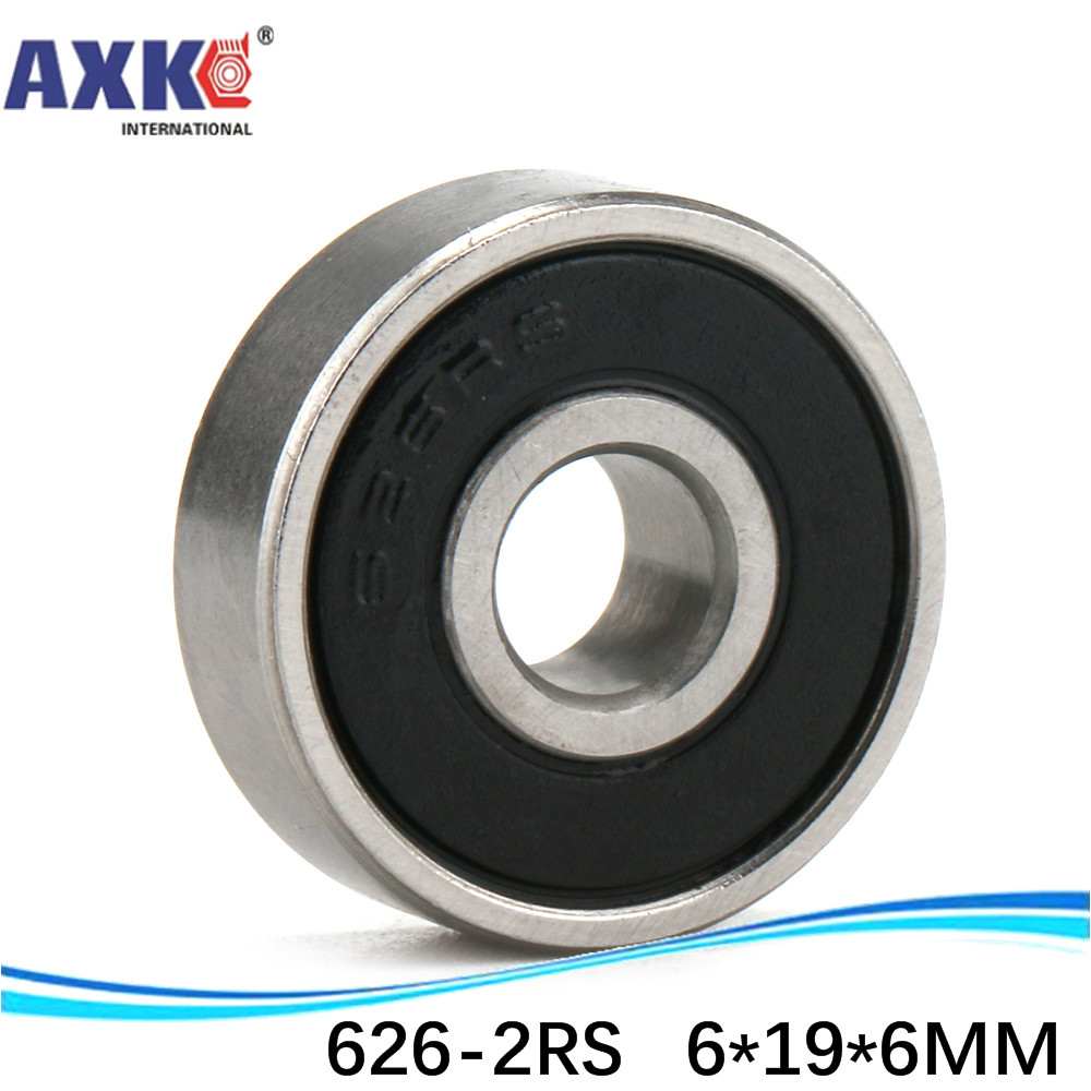 440c Stainless Steel Metal Rubber Sealed Ball Bearings 4pcs S686-2RS 6x13x5 mm