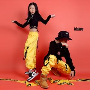 Image 2 - 어린이를위한 새로운 힙합 의류 무대 의상 거리 착용 어린이 재즈 댄스 의상 볼룸 댄스 성능 의류 DQS3065