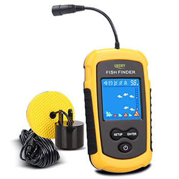 LUCKY Handheld Fish Finder Portable Fishing Kayak Fishfinder Fish Depth Finder Fishing Gear with Sonar Transducer and DisplayPor bluetooth fish finder sea fish detect device for ios for android 25m 80ft sonar fishfinder wireless fishing detector top quality