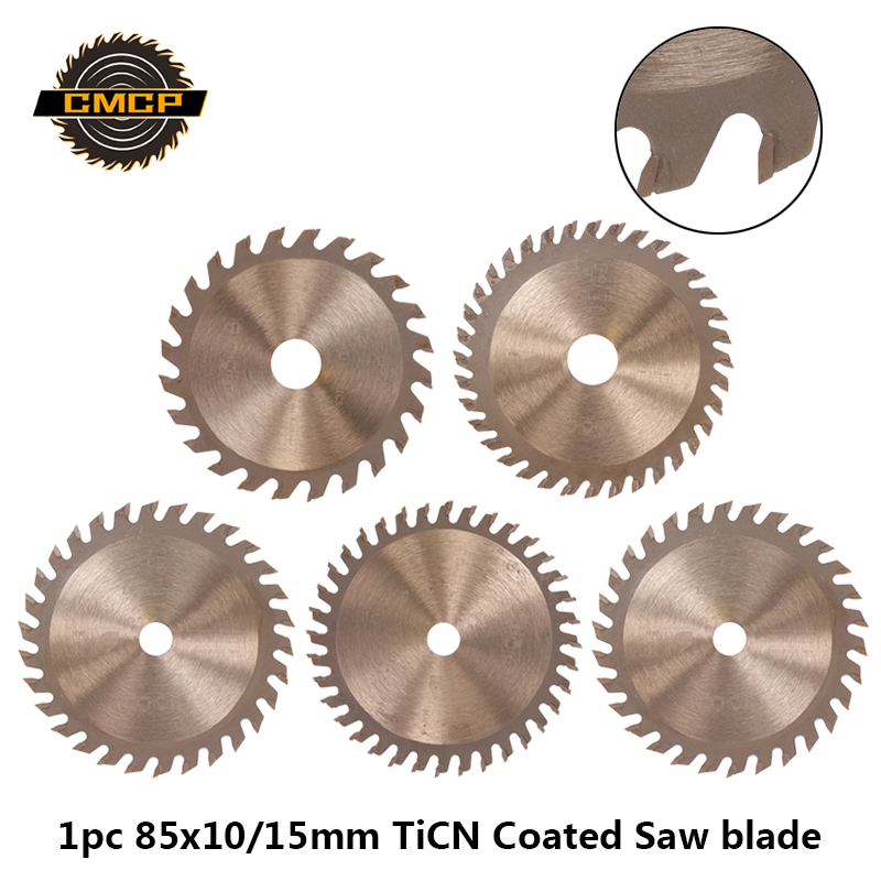 1pc 85x10/15mm Circular Saw Blade For Wood TiCN Coated TCT Saw Blade 24T/30T/36T Cutting Disc Woodworking Wheel Discs Saw Disc