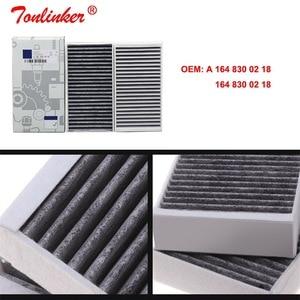 Image 5 - Kabin filtresi A1648300218 için 1 adet Mercedes benz R CLASS W251 V251 2005 / GL CLASS X164 2006 /M CLASS w164 2005 2012 Model filtre