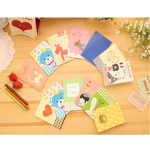 1pcs/lot Lovely Cartoon Mini Notebook Painting of Diary Book Journal Record Office School Supplies