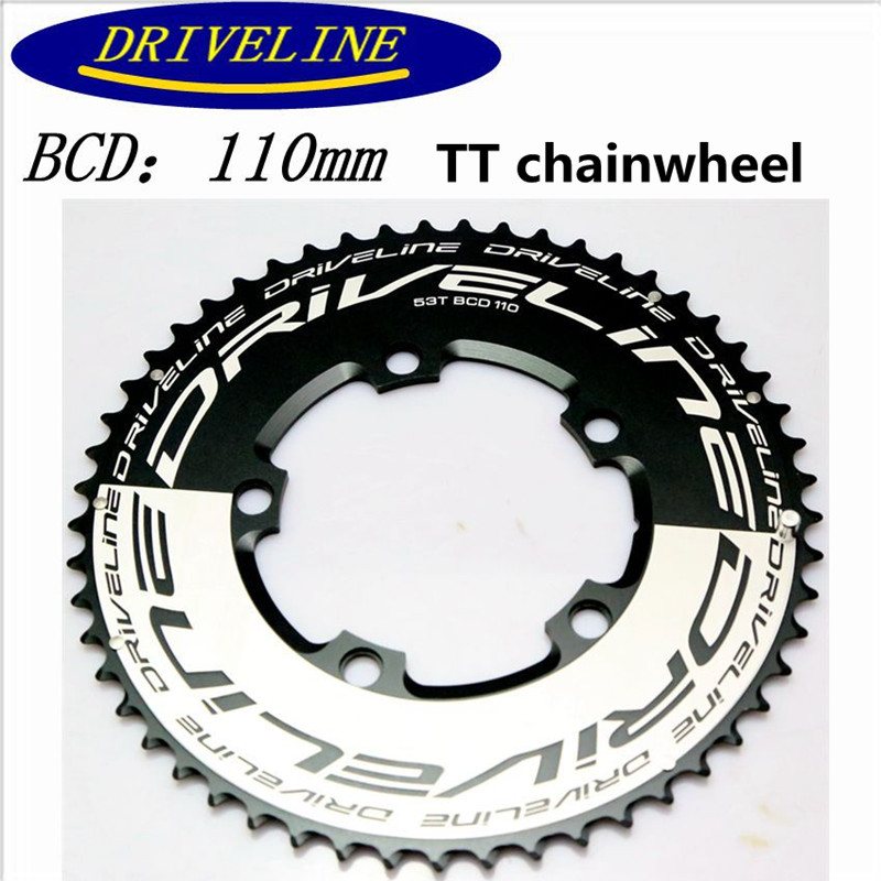 Road bike sprocket <font><b>50T</b></font>/52T/53T/54T/56T chainwheel modification <font><b>110BCD</b></font> 7075 aluminum alloy image