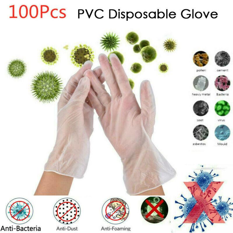 100/200pcs Disposable Gloves One-off Plastic Gloves Restaurant BBQ Transparent Eco-friendly PE Gloves Kitchen Garden Accessories