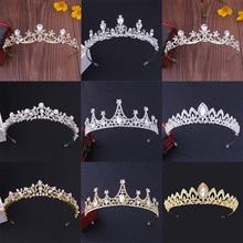 Trendy Crown Bride Headband Bridal Tiaras Baroque Crystal Wedding Hair Accessories Headdress Wedding Tiara And Crown For Women