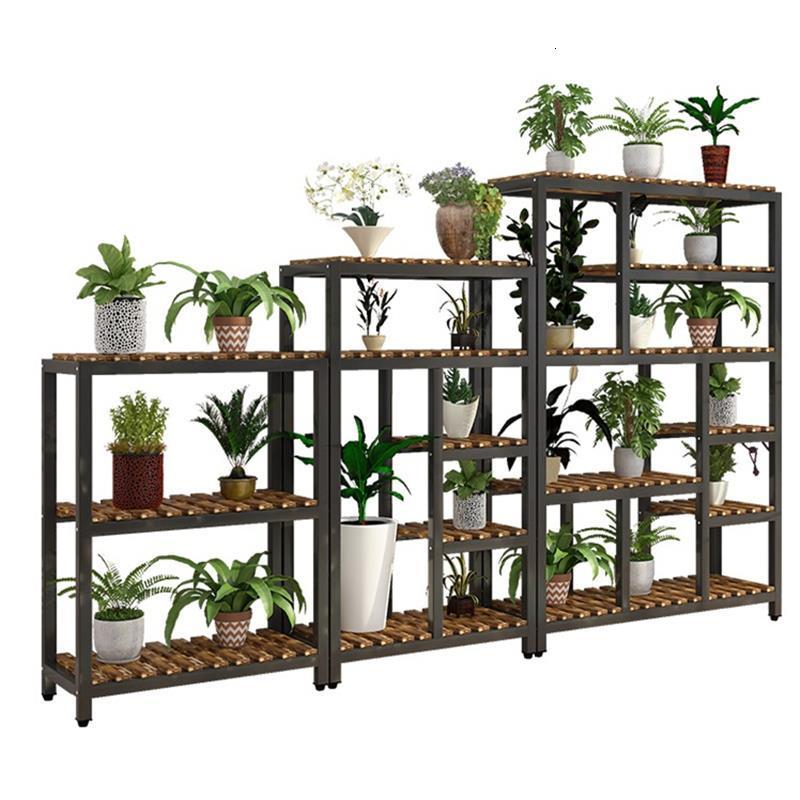 Rak Bunga Plantenrekken Estanteria Para Plantas Stojaki Pot Shelf Plant Rack Outdoor Stojak Na Kwiaty Dekoration Flower Stand