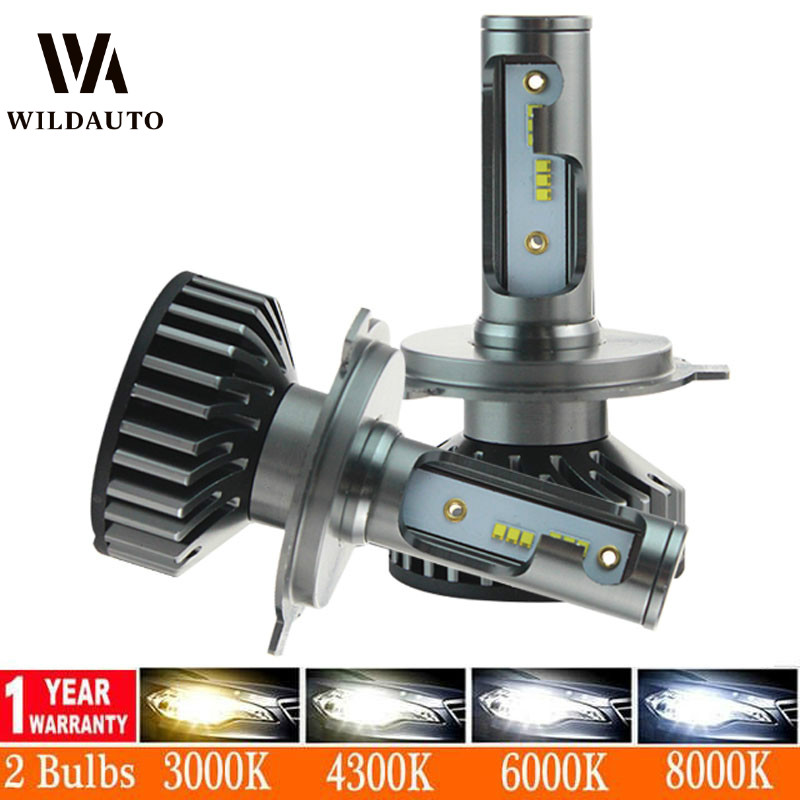 2 PCS Car LED Headlight <font><b>Bulb</b></font> H4 H7 H11 H1 HB3 <font><b>HB4</b></font> CSP 1860 Chips Light No Error <font><b>3000K</b></font> 4300K 6000K 12000LM Automobiles Fog Lamp image