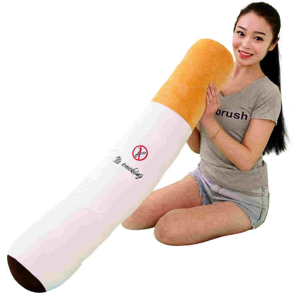 1 個 30-110 センチメートル喫煙円筒睡眠タバコ枕ボーイフレンドの誕生日プレゼントぬいぐるみ、送料無料
