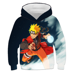 Naruto Sweatshirt Children Clothing Japanese Anime Clothes Boys Hoodie Sasuke Funny Cartoon Harajuku Cool Streetwear Teen Tops