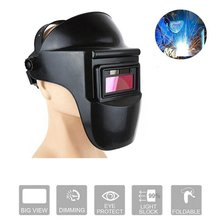 Sparkproof Anti-UV Protective Mask Welding Helmet Anti-Glare Lens Arc Radiation HeadMounted Solar Auto Darkening Black wholesale