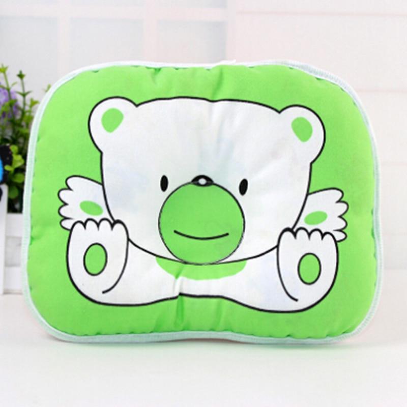 Newest Newborn Toddler Anti Roll Sleep Pillow Babies Positioner Prevent Flat Head Cushion Cute Print Bear Oval-Shape Pillows