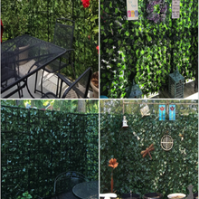 Fence-Screen Artificial-Hedge-Leaves Garden-Fence Balcony Privacy Backyard for Leaf Faux-Lvy