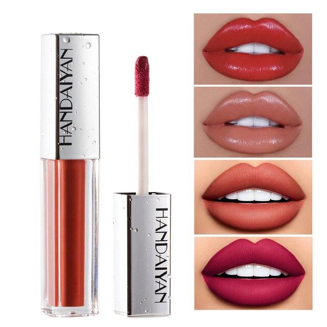 Brillo de labios líquido mate, brillo de labios líquido mate de larga duración, resistente al agua, cosmético de belleza, mantiene 24 horas de maquillaje, brillo de labios maquillaje TSLM1 1