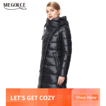 MIEGOFCE Coat Jacket Hooded Bio-Fluff Winter-Collection Warm Fashionable Women's Female