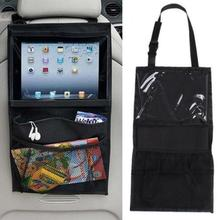 Car Seat Back Pockets Storage Bag Mummy Hanging Bag Back Chair Pouch leather car hanging storage bag pouch brown
