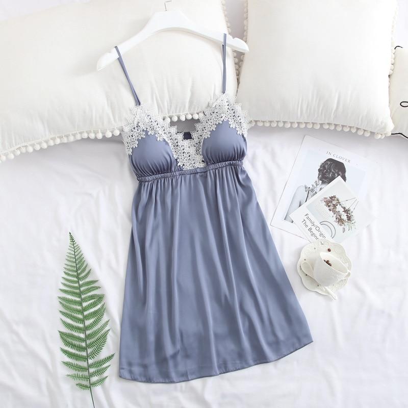 Feier Sexy Nightdress Camisole for Women Lace Family Matching Pyjamas  Bathrobe Silk Robe Femme