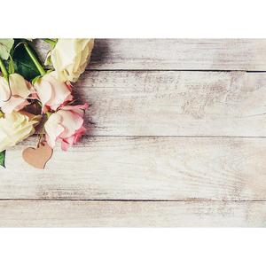 Image 2 - Flowers Wooden Plank Photo Backdrops Vinyl Cloth Backgrounds for Lovers Valentines Day Wedding Photophone Photography Props