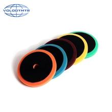 Almohadillas de disco de abrillantado para coche, almohadilla de pulido de 6 pulgadas con gancho y bucle de 5 pulgadas, accesorios automáticos para pulidora, máquina de espuma de esponja