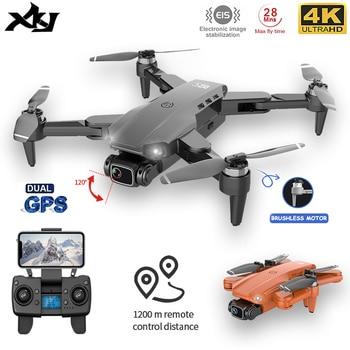 Xkj l900pro gps zangão 4k câmera dupla hd profissional fotografia aérea motor sem escova dobrável quadcopter rc distance1200m 1