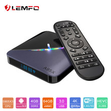 LEMFO A95X F3 S905X3 RGB de luz inteligente Android TV Box Android 9,0 soporte Plex 4K Airplay & Miracast Mali-G31 Set Top Box(China)