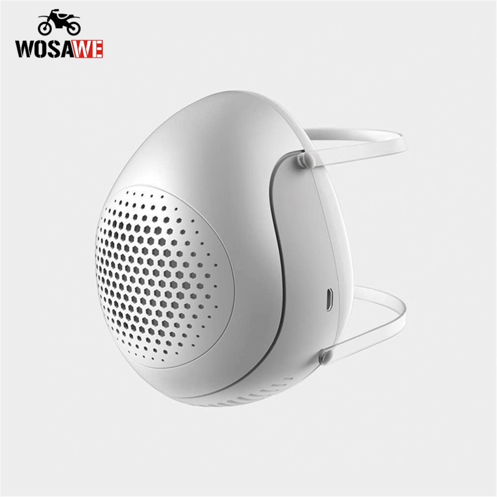 WOSAWE PM2.5 Dustproof Mask Anti-Virus Smart Electric Mask Breathable Anti-Pollution Anti Smog Dustproof Outdoor Mask title=
