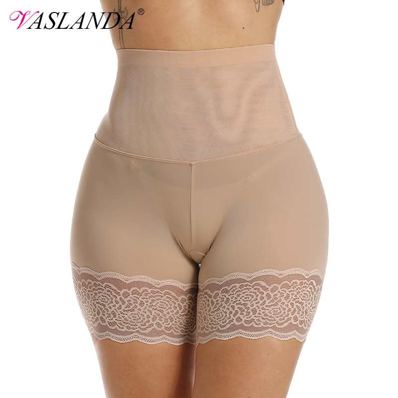 VASLANDA High Waist Girdle Body Shaper Women Short Pants Under Skirt Lumbar Trainer Tummy Control Panties Butt Lifter Shapewear