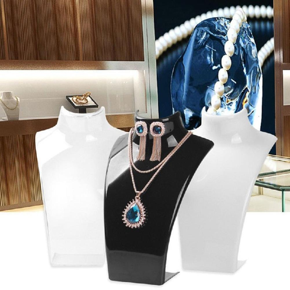 Acrylic Mannequin Necklace Earrings Jewelry Display Stand Rack Holder Organizer Hot