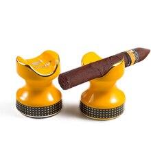 Cigar-Ashtray-Holder Stand Pocket Smoking-Accessories COHIBA Ceramic Travel Portable