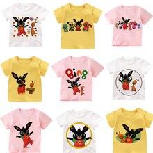 Bing criança camiseta roupas para meninas bing coelho aventura menino traje das crianças roupas crianças/bebê vestuário 3 cor t topos