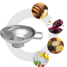 S/L Type Luxury Silver Stainless Steel Wide Mouth Hopper Filter Specialist Canning Funnel Kitchen Food Cooking Strainer Tools household funnel stainless steel wide mouth funnel canning hopper filter food pickles jam funnel kitchen gadgets