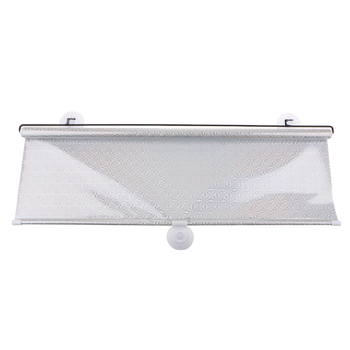 Universal Car Window Shade Roller Retractable Sun Shade Silver 68cmx125cm image