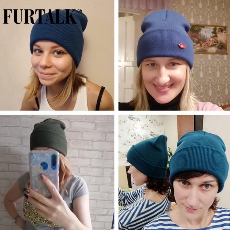 FURTALK Winter Hats for Women Men Knitted Beanie Hat Cap for Girls Female and Male Skullies Couples Stocking Hats Cap 5