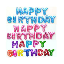 5 Colors13 Pieces As 1 set Birthday Supplies16 Inch Happy Letters Foil Balloons Set For Kids Party Decorations